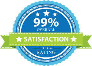 Seal depicting 99% Overall Satisfaction Rating of WESD services